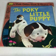 THE POKY LITTLE PUPPY Picture & Record Vinyl LP - Disneyland Read a Long 1976