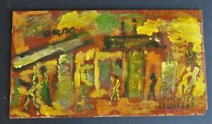 PURVIS YOUNG: SUMMER IN THE CITY 14 H x 25 W Wood Original Owner COA