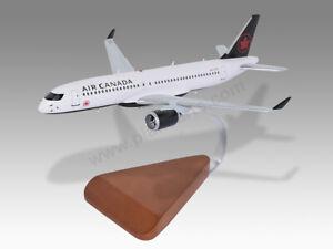 Airbus A220-300 Air Canada Solid Mahogany Wood Handcrafted Desktop Display Model