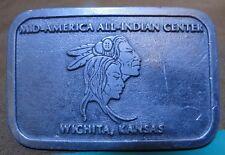 Belt Buckle - Mid-America All-Indian Center Wichita, KAnsas Indian Heads - Grand