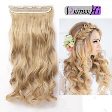 UK Real 100% Remy Human Hair Clip in Hair Extensions One Piece 5 Clips Soft Wavy