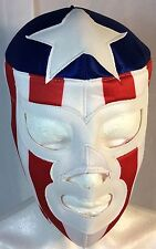 THE AMERICAN/EL AMERICANO WRESTLING-LUCHADOR MASK! USA! UNIQUE AWESOME! HANDMADE