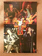 BLACK SABBATH - with RONNIE JAMES DIO poster - cd's dvd lp's rainbow