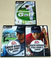 3 PC SPIELE SAMMLUNG - TIGER WOODS PGA TOUR 2003 2004 LEADERBOARD GOLF