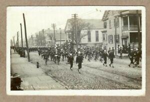 Charleston South Carolina, 1912 Military Parade, Real Photo Postcard