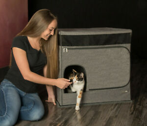 Pet Gear Pro Pawty for Cats Hides Contains Litterbox Stops Litter from Spreading