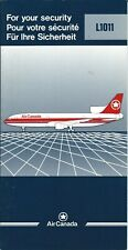 Safety Card - Air Canada - L-1011 - 1989 (S4141)
