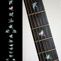 Inlay Sticker Fret Markers for Guitars & Bass - Doves - Abalone-Mix