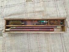 Vintage Gun Cleaning kit Vintage wooden box
