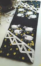 The Sheep are in the Meadow applique penny rug table runner pattern