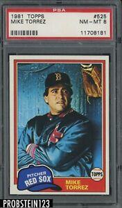 1981 Topps #525 Mike Torrez Boston Red Sox PSA 8 NM-MT
