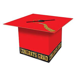 Red Graduate Cap Card Box