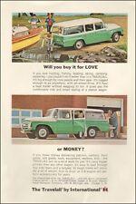1964-International Harvester`Travelall`Green/White`Boat-Vintage Ad