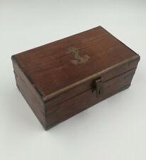 Boite écritoire de marine voyage en bois 19e siècle