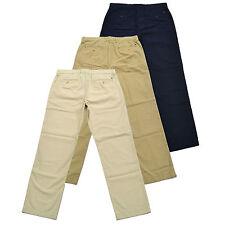 Tommy Hilfiger Para Hombre Pantalones Chinos Pantalones Plano Frente Ajuste Clásico Flag Logo Bottoms Nuevo
