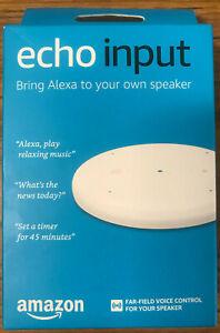 Amazon Echo Input - White - Bring Alexa to your own speaker- Sealed New In Box