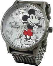 Disney Mickey Mouse Stainless Steel  Men's Metal Watch 90th Anniversary MK8053