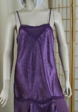 Sears Enchanting Nightgown/Chemise/Dress Purple Flapper Style Size S/M