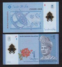 Malaysia RM1 #ZD009XXXX REPLACEMENT 2 zero  POLYMER - UNC