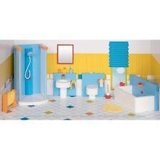 Goki Puppenhausmöbel modernes Badezimmer