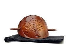 Vickys World Leder Haarspange - Lebensbaum - OX Antique Life-Tree