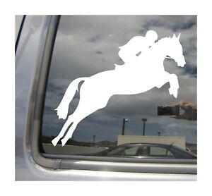 Equestrian Horseback Riding Horse - Auto Window Wall Vinyl Decal Sticker 04020