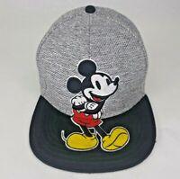 Mickey Mouse Disney Grey Black Trucker Strap Back Baseball Cap Hat Adjustable