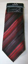 John Ashford Mens' Barrett Stripe Neck Tie Neckwear Red One Size