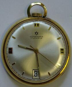Junghans Uhr / Kettenuhr / Taschenuhr - Edelstahl Gold - 17 Jewels - Handaufzug