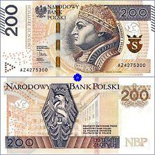POLAND 200 ZLOTYCH 30.03.2015(16) *P-189*PREFIX AZ*UNC*Banknote