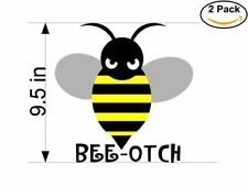 bee otch logo 2 Stickers 9.5 Inches Sticker Decal