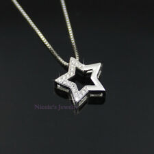 Fashion 18K White Gold Plated Star Crystal Pendant Necklace 167