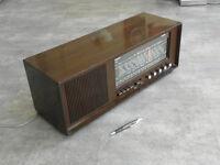 vintage radio tsf valve Work grandin lindau tuner old tube lamp art deco wood