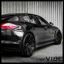 "22"" XO MILAN BLACK CONCAVE WHEELS RIMS FITS PORSCHE CAYENNE S GTS TURBO"