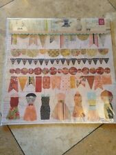 Basic Grey Lucille Paper Garland Die Cuts 12x12 Sheet