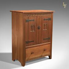 Mid-Century Oak Cabinet, Arts & Crafts, Vintage Liberty / Heals Quality Cupboard