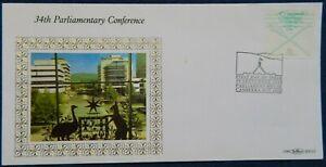 1988 Australia 34th Parliamentary Conference By Benham Silk Cover - RARE
