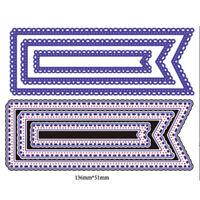3Pcs Lace Design Metal Cutting Dies For DIY Scrapbooking Album Paper Cards
