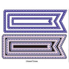 3Pcs Lace Design Metal Cutting Dies For DIY Scrapbooking Album Paper Cards  I