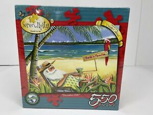 Serendipity 550 Piece Puzzle Santa In Paradise December 26 New & Sealed