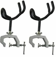 2 Pack Heavy Duty Fishing Rod Pole Rest Universal Boat Dock Clamp On Grip Holder