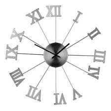 Premier Housewares Wall Clock, Metal, Roman Numerals