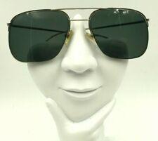 Vintage Logo Paris Silver Metal Aviator Half-Rimmed Sunglasses Frames Only