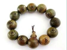 Huge Wood Beads Tibetan Buddhist Prayer Bracelet Mala 14MM