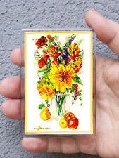 Acrylic Magnet / Flowers with fruit/Print of Original Painting by Ljuba Hahonina