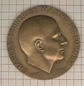 Great Medal Lagriffoul Master Of Forged Charles Schneider 1960 Le Creusot