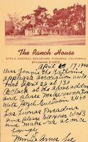 Vintage 1942 Photograph Photo Postcard The Ranch House Pasadena California