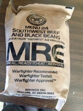 MRE Ready To Eat Meals Menu 24 Southwest Beef N Black Beans Survival Food
