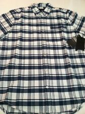 New Men's Hurley Button Down Skater Surfer Causal Short Sleeve Shirt Size M