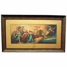 19th c. L'Aurora Italian Chromolithograph Print Guido Reni in Antique Wood Frame